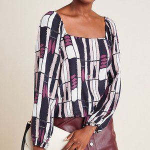Anthropologie Eloise Abstract Blouse